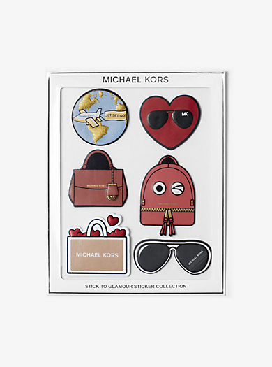 Stick to Glamour Leather Stickers, Set of 6  by Michael Kors