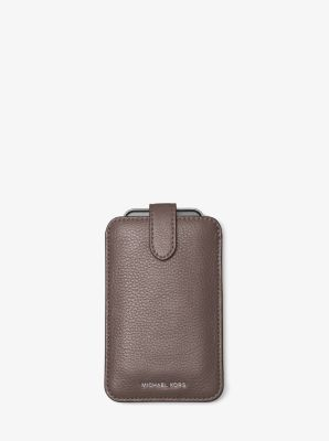 Pebbled Leather Phone Sleeve for iPhone 6 by Michael Kors