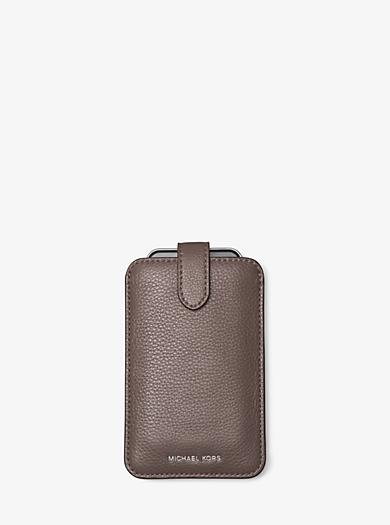 Pebbled Leather Phone Sleeve by Michael Kors