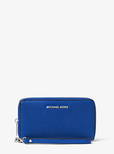 Smartphone-Handgelenktasche Mercer Large aus Leder by Michael Kors