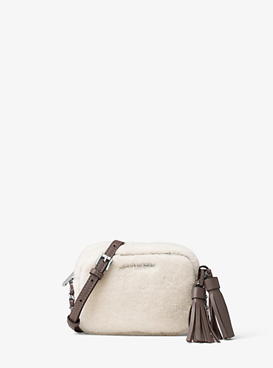 Jet Set Travel Small Shearling Crossbody by Michael Kors