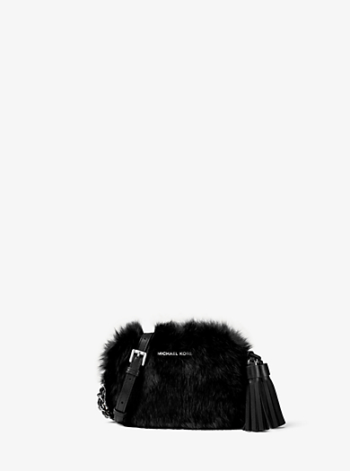 Jet Set Travel Small Fur Crossbody by Michael Kors
