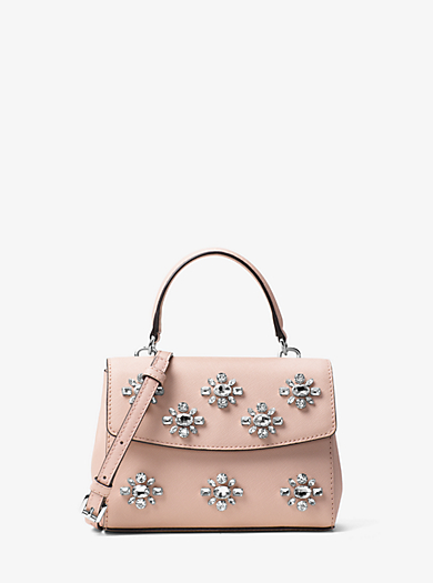 Ava Extra-Small Crystal Leather Crossbody by Michael Kors