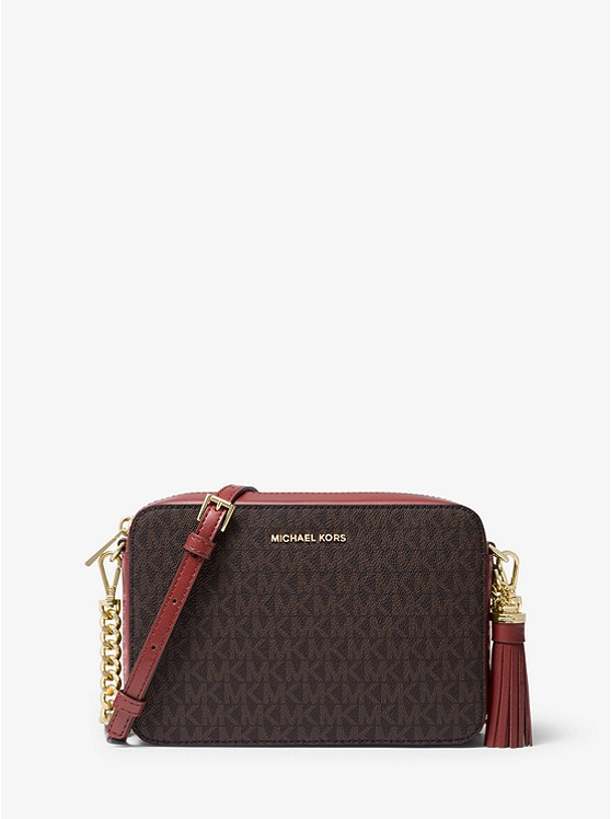 Ginny Medium Logo Crossbody Bag | Michael Kors