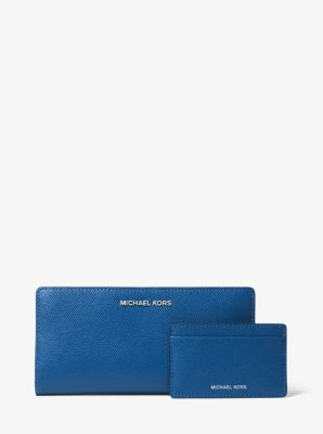 마이클 마이클 코어스 Michael Michael Kors Large Crossgrain Leather Slim Wallet