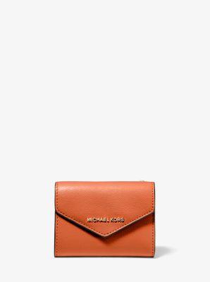 마이클 마이클 코어스 Michael Michael Kors Medium Crossgrain Leather Envelope Wallet