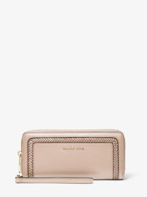 마이클 마이클 코어스 Michael Michael Kors Lexington Large Pebbled Leather Continental Wristlet