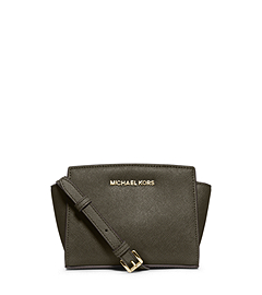 Selma Saffiano Leather Mini Messenger by Michael Kors