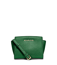 Selma Saffiano Leather Mini Messenger