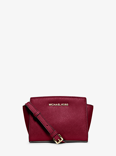 Selma Mini Saffiano Leather Crossbody by Michael Kors