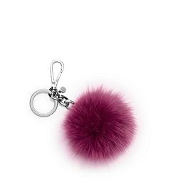 Rabbit Fur Pom Keychain