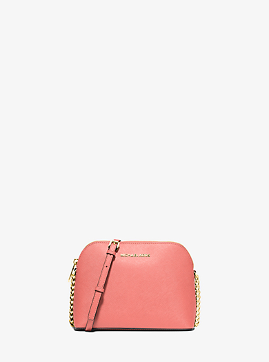 Cindy Large Saffiano Leather Crossbody by Michael Kors