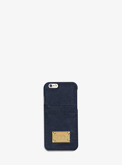 Saffiano Leather Pocket Smartphone Case by Michael Kors