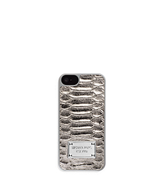 Lydia Python Pattern-Embossed Leather Phone Case