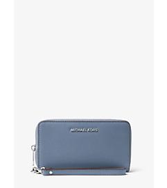 Jet Set Travel Large Saffiano Leather Smartphone Wristlet by Michael Kors