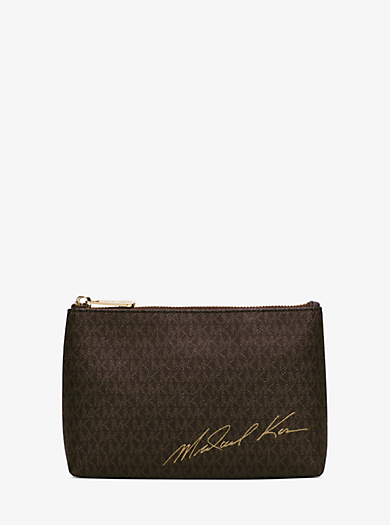 Signature Logo Pouch by Michael Kors