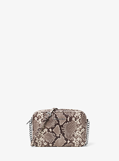 Bedford Large Embossed-Leather Crossbody by Michael Kors