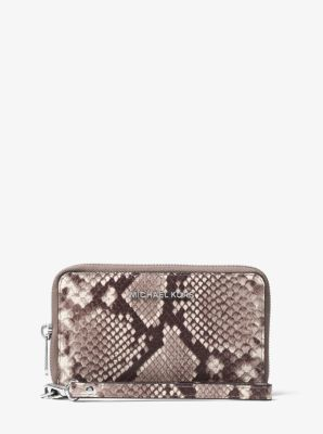 Jet Set Travel Embossed-Leather Phone Case for iPhone 6/6s by Michael Kors