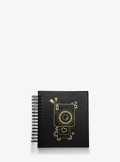 Camera-Embossed Leather Scrapbook by Michael Kors