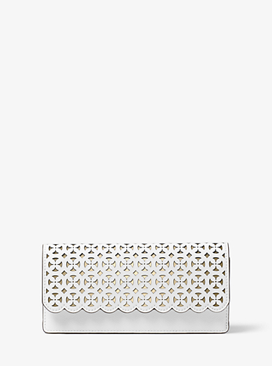 Jet Set Travel Perforated Leather Wallet by Michael Kors