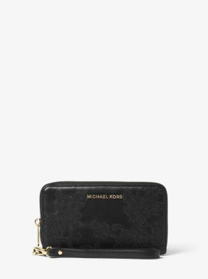 Jet Set Travel Large Leather Wallet by Michael Kors