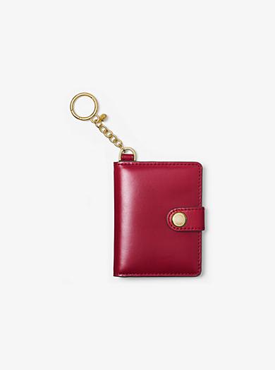 Leather Photobook Key Charm by Michael Kors