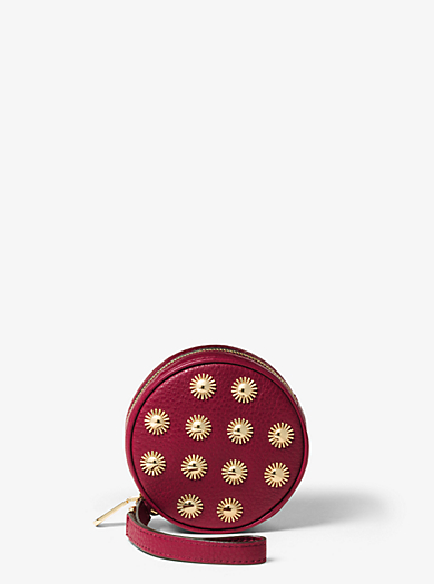 Jet Set Travel Studded Leather Coin Purse by Michael Kors