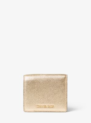 Jet Set Travel Metallic Leather Carryall Card Case by Michael Kors