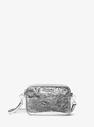 Jet Set Small Crinkled-Leather Crossbody by Michael Kors