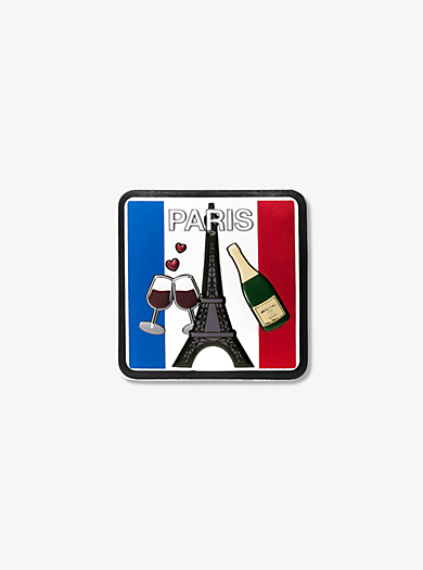 Sticker Paris in pelle by Michael Kors