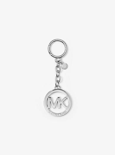 Silver-Tone Logo Key Chain by Michael Kors