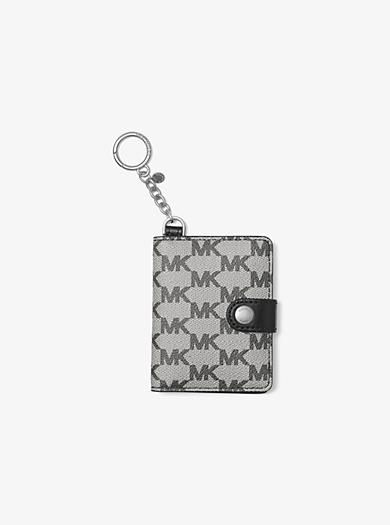 Heritage Logo Photobook Key Charm by Michael Kors