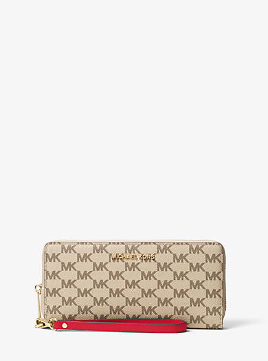 Jet Set Travel Logo Continental Wristlet by Michael Kors