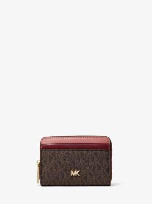 마이클 마이클 코어스 Michael Michael Kors Small Logo and Two-Tone Leather Wallet