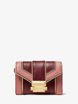 마이클 마이클 코어스 Michael Michael Kors Whitney Small Quilted Two-Tone Leather Chain Wallet