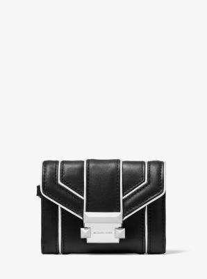 마이클 마이클 코어스 Michael Michael Kors Whitney Small Quilted Leather Chain Wallet,BLACK/SILVER