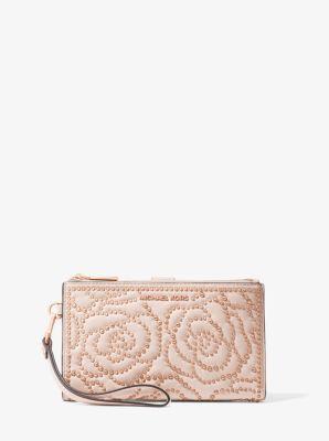 마이클 마이클 코어스 Michael Michael Kors Adele Rose Studded Leather Smartphone Wallet,SOFT PINK