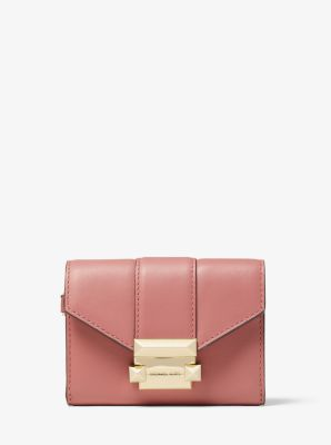 마이클 마이클 코어스 Michael Michael Kors Whitney Small Leather Chain Wallet,ROSE