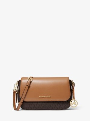 마이클 마이클 코어스 Michael Michael Kors Bedford Legacy Large Logo Pebbled Leather Crossbody Bag