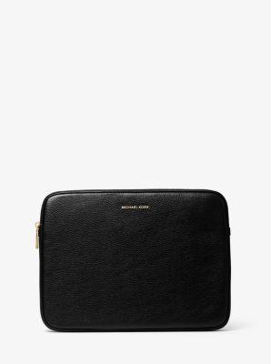 마이클 마이클 코어스 랩탑 케이스 13인치 - 블랙 Michael Michael Kors Pebbled Leather 13 Inch Laptop Case