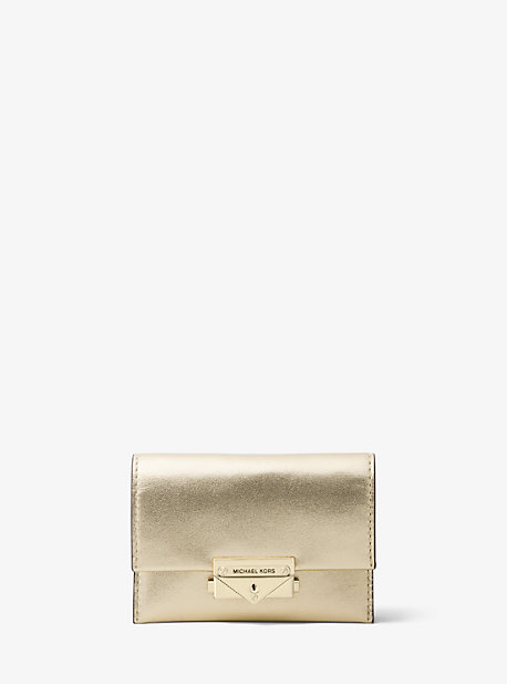 Cece Small Metallic Leather Wallet