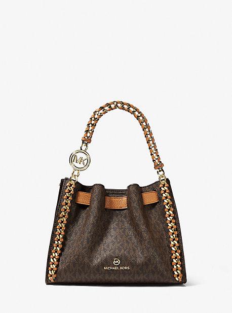 MK Petit sac à bandoulière Mina avec logo - MARRON - Michael Kors