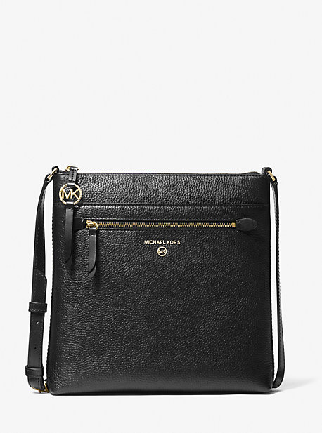 Michael Kors JET SET LARGE PEBBLED LEATHER CROSSBODY BAG