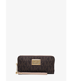 Zip-Around Logo Continental Phone Wristlet