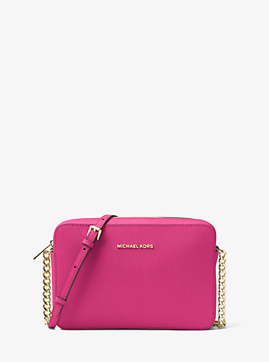 Jet Set Large Saffiano Leather Crossbody by Michael Kors