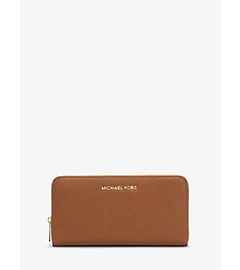 Jet Set Travel Saffiano Leather Wallet