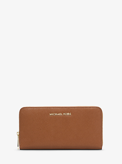 Brieftasche Jet Set Travel aus Saffianleder im Kontinental-Format by Michael Kors
