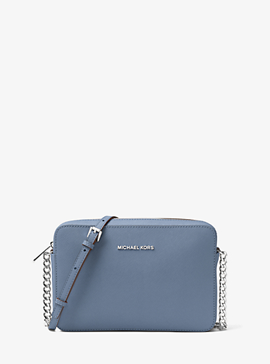 Tracolla Jet Set Travel grande in pelle Saffiano by Michael Kors
