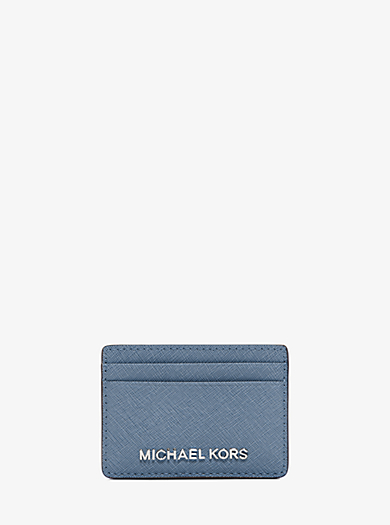 Jet Set Travel Saffiano Leather Card Case by Michael Kors