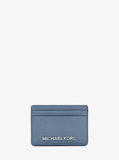Porta carte di credito Jet Set Travel in pelle Saffiano by Michael Kors